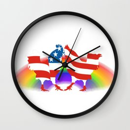 Chic-In-Equality Wall Clock