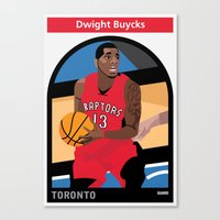 dwight Canvas Prints featuring Dwight Buycks by Everyplayerintheleague