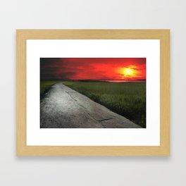 Kure Beach, NC sunset Framed Art Print