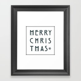 Merry Christmas lettering, Art Noveau style. Framed Art Print