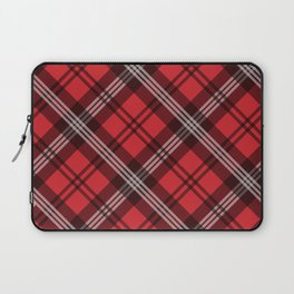 Scottish Plaid (Tartan) - Red Laptop Sleeve