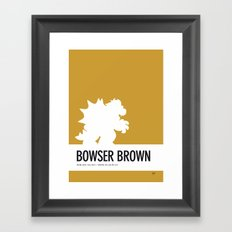 No38 My Minimal Color Code poster Bowser Framed Art Print