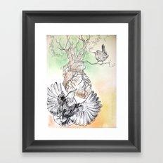 Green Bough, Singing Bird Framed Art Print