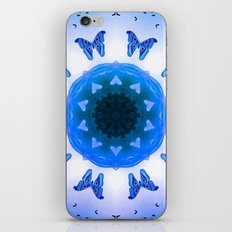All things with wings (blue) iPhone & iPod Skin