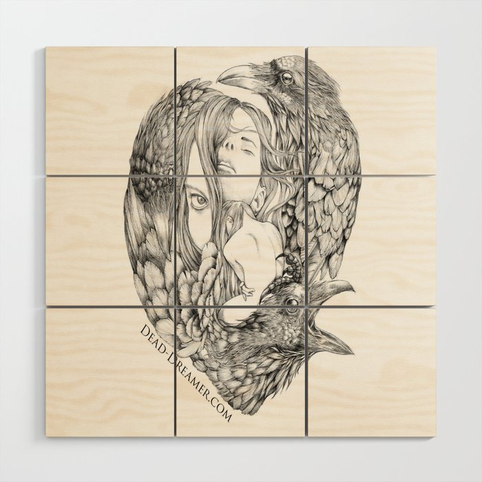 To Dream is to Die - Line Wood Wall Art