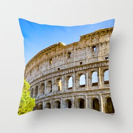 Vita Bellissima (Beautiful Life): Colosseum in Rome, Italy Throw Pillow