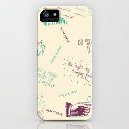 Doodlethrob (Tegan and Sara) creme iPhone Case