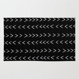 mudcloth 14 minimal textured black and white pattern home decor minimalist beach Rug