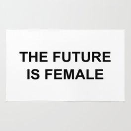 The Future is Female T Shirt unisex adult Rug