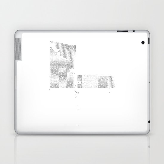 Erosion & Typography 4 Laptop & iPad Skin