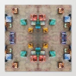 Toppled Ceramic Tiling 2 Canvas Print