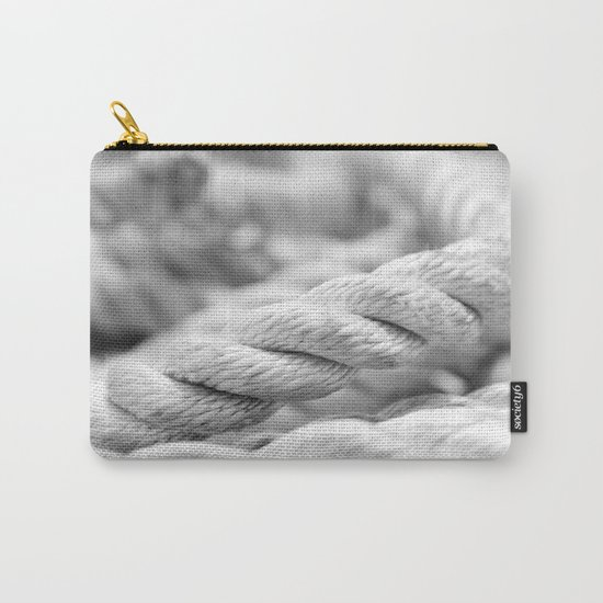 Ropes black and white macro Carry-All Pouch