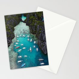 Island hopping in the Philippines Stationery Cards