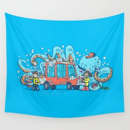 Octopus Carwash Wall Tapestry