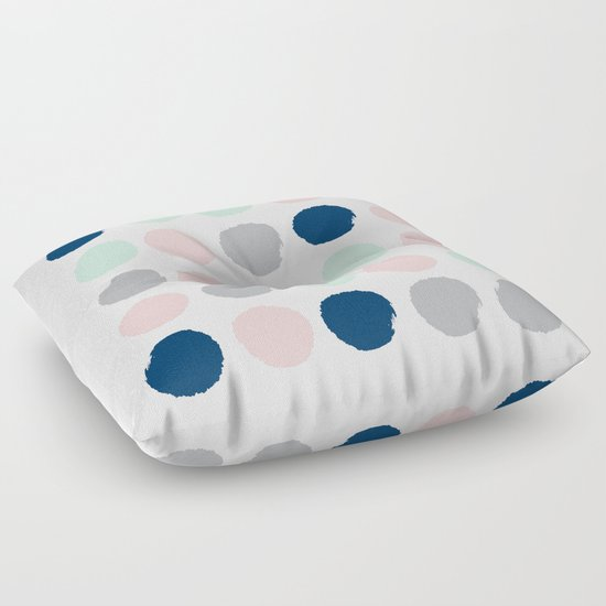Floor Pillows For Infants : Minimal painted dots gender neutral home decor minimalist nursery baby polka dots Floor Pillow ...