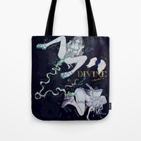 pisces Tote Bags featuring PISCES by Chandelina