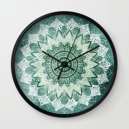 BOHOCHIC MANDALA IN MINT Wall Clock