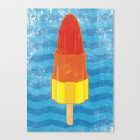 rocket Canvas Prints featuring Rocket by Nicholas Darby