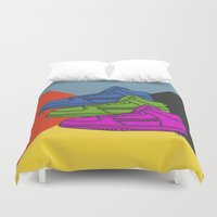sneakers Duvet Covers featuring Colorful sneakers by YTRKMR