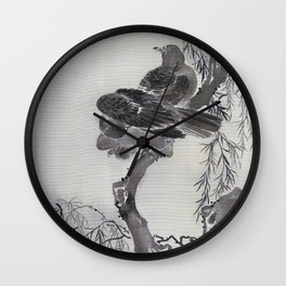 Two Birds On A Branch - Digital Remastered Edition Wall Clock