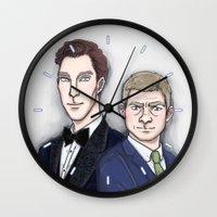 benedict Wall Clocks featuring Benedict & Martin by enerjax