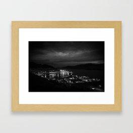 Harbour Night Sky Framed Art Print