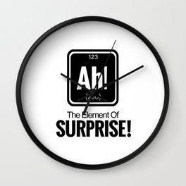AH! THE ELEMENT OF SURPRISE! Wall Clock