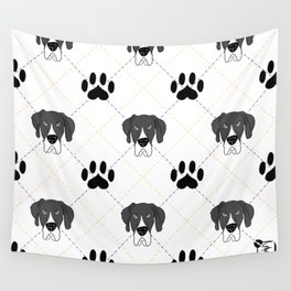 Mantle Great Dane Paw Print Pattern Wall Tapestry