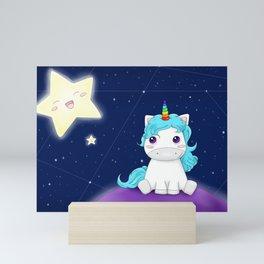 Unicorne galaxy Mini Art Print