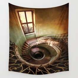 Spiral staircaise with a window Wall Tapestry