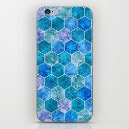 Frozen Leaves in Hexagonal Pattern 2 iPhone Skin