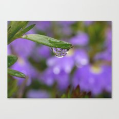 Smiling Drop in Purple Canvas Print
