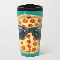 Cool Pizza Metal Travel Mug