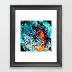 Paint Swirl Euphoria Framed Art Print