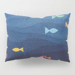 Coloured fish say hooray Pillow Sham