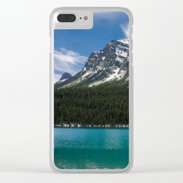Canadian Rockies and Turquoise Waters Clear iPhone Case
