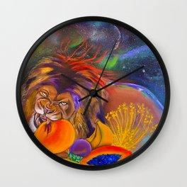 The Vegan Kiniun Wall Clock