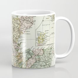 Scotland Vintage Map Coffee Mug