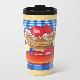 Pancakes Week 10 Metal Travel Mug