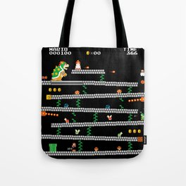 Super Mario x Donkey Kong level mockup Tote Bag