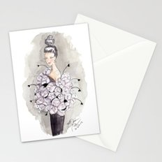 Flower and feather Retro Fashion Watercolor Illustration Stationery Cards