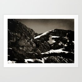 Lonely Mountains I Art Print
