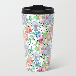 Spring Hexa Floral Travel Mug