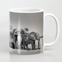 Elephant Herd Circling III Coffee Mug