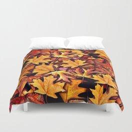 Fall Leaves Pattern Duvet Cover