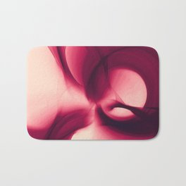 Splash of Wine Fractal Bath Mat