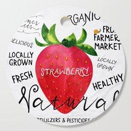 Watercolor strawberry Cutting Board