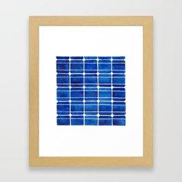 Monocrystalline Solar Panels Watercolor Painting Framed Art Print