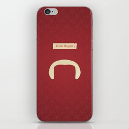 Hogan (Famous mustaches and beards) iPhone Skin