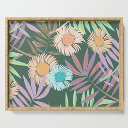 Gerbera and Palms Serving Tray